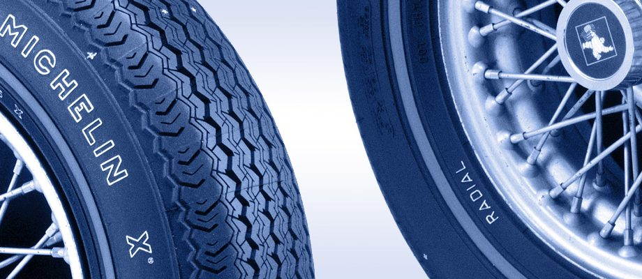 Two tires of Michelin X Radial