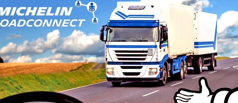 Camion avec logo Michelin ROADCONNECT