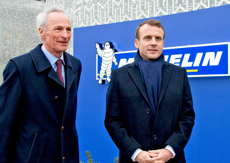 Jean-Dominique Senard and Emmanuel Macron