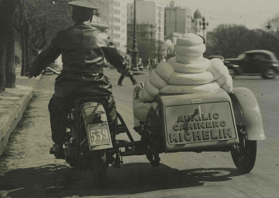 The current Michelin Man on the road in 1920