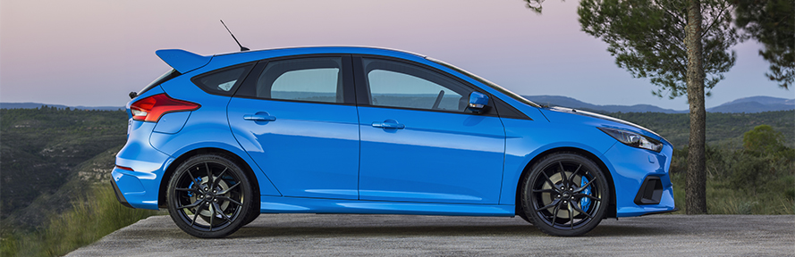 The new Ford Focus RS is equipped exclusively with MICHELIN