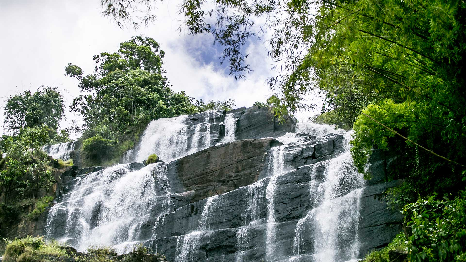 Cascade in a place protected by Michelin