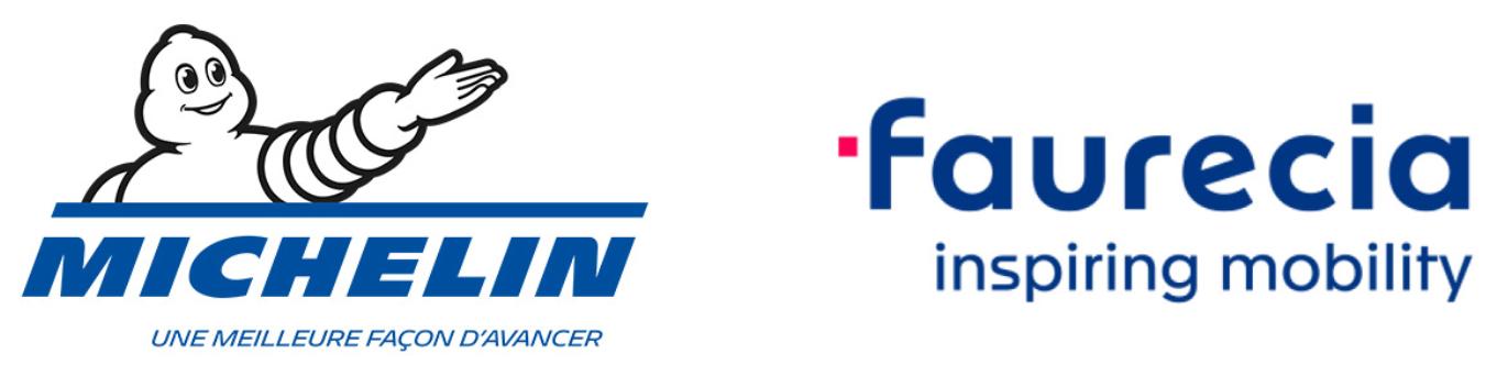 Michelin_Faurecia_Logos